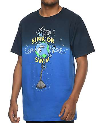 Teenage Sink Or Swim Black & Blue T-Shirt