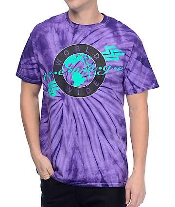 Teenage Worldwide camiseta con efecto tie dye morrada