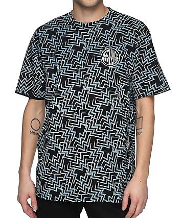 Teenage Zig Zag Logo Black T-Shirt