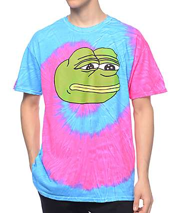 Teenage x PePe Face Tie Dye T-Shirt