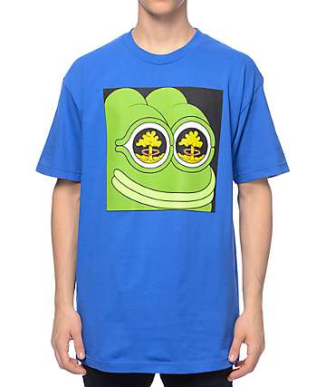 Teenage x PePe Mushroom Cloud Blue T-Shirt
