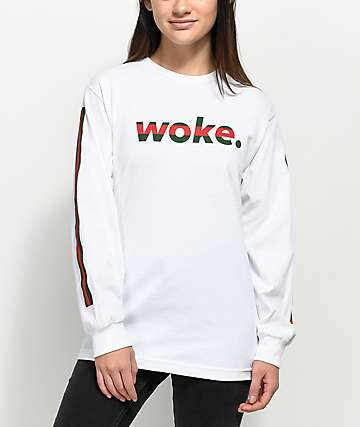 The Artist Collective G-Woke White Long Sleeve T-Shirt