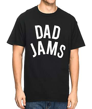 The Bad Dads Club Dad Jams Black T-Shirt
