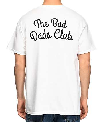 The Bad Dads Club Logo White T-Shirt