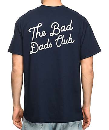The Bad Dads Club Script Navy T-Shirt