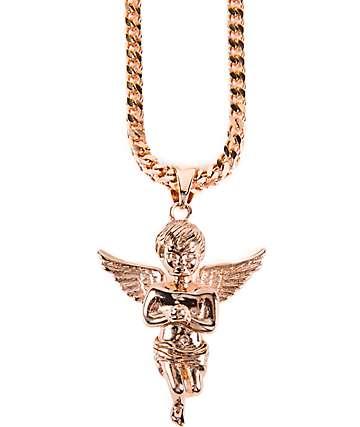 The Gold Gods Angel Rose Gold Necklace