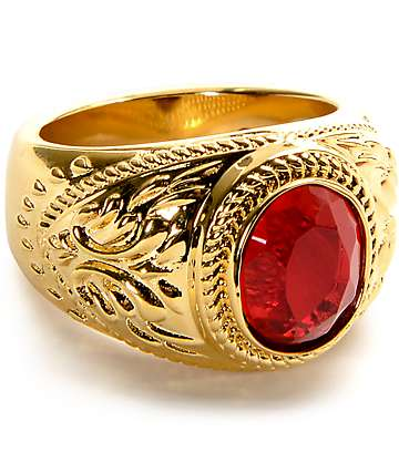 The Gold Gods Aura Ruby Ring