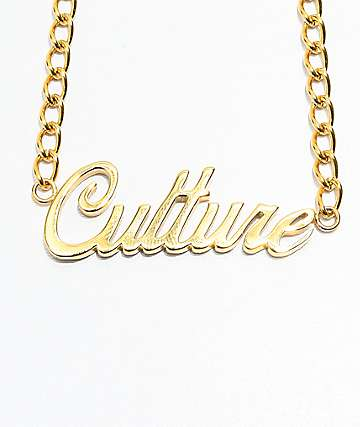 The Gold Gods Culture Script Choker Necklace