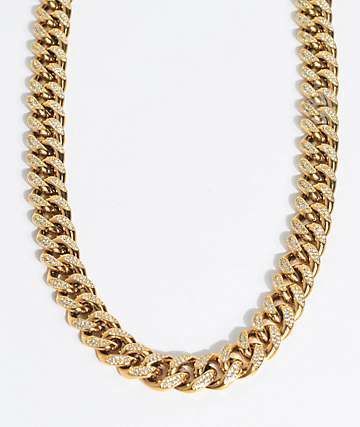 "The Gold Gods Diamond Cuban 22"" Necklace"