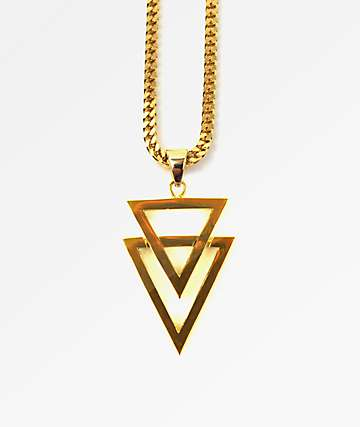 "The Gold Gods Dual Arrow 22"" Necklace"