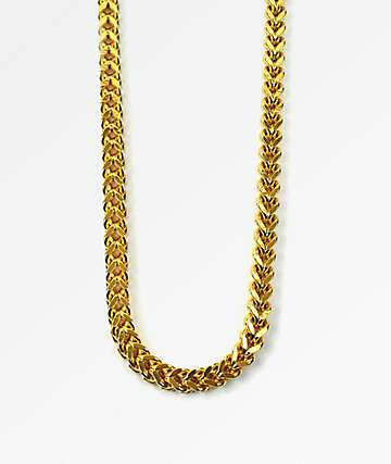 The Gold Gods Franco collar de cadena caja