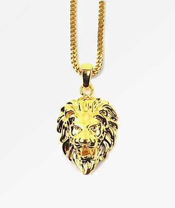 The Gold Gods Lion Head Gold Necklace