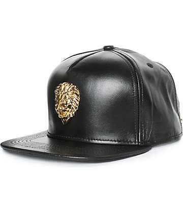 The Gold Golds Lion Nappa Leather Strapback Hat