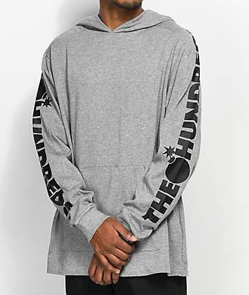 The Hundreds Alpha Heather Grey Hoodie
