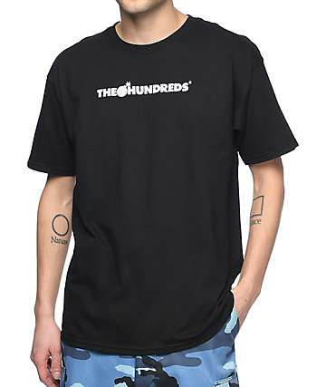 The Hundreds Bar Logo Halftone camiseta negra