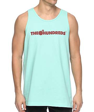 The Hundreds Bar Logo camiseta sin mangas en azul claro
