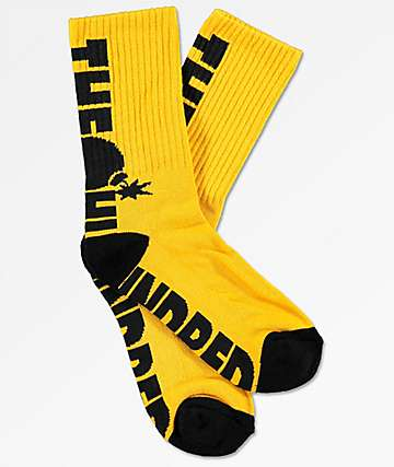 The Hundreds Bar Yellow Crew Socks