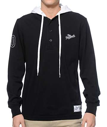 The Hundreds Bench Long Sleeve Hooded Henley Shirt