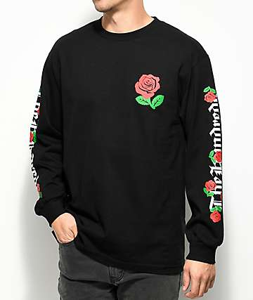 The Hundreds Big Rose Fill Black Long Sleeve T-Shirt