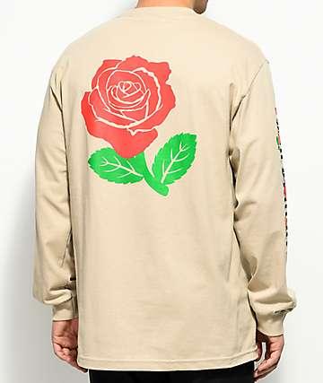The Hundreds Big Rose Fill Sand Long Sleeve T-Shirt