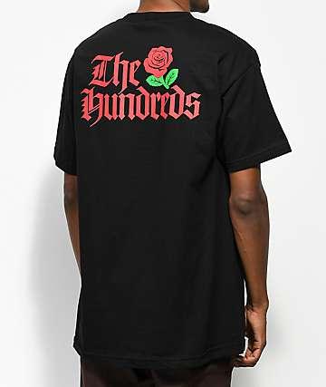 The Hundreds Big Rose camiseta negra