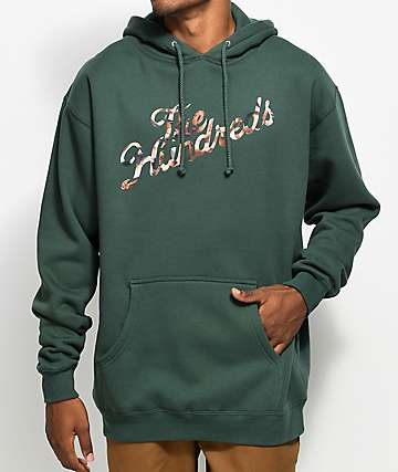 The Hundreds Bodies Slant Alpine Green Hoodie