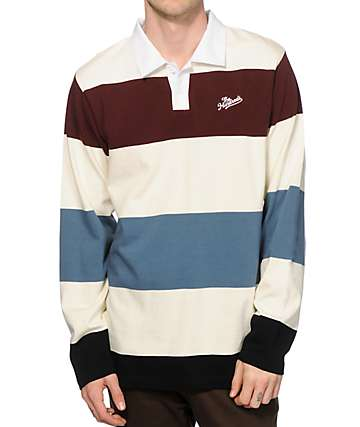 The Hundreds Budrow Long Sleeve Polo Shirt