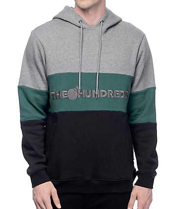 The Hundreds Canal Athletic capucha en gris, negro y verde