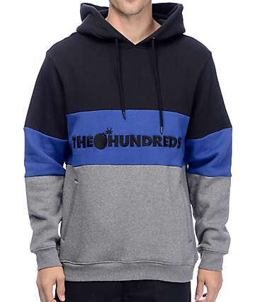 The Hundreds Canal Black, Blue & Grey Hoodie