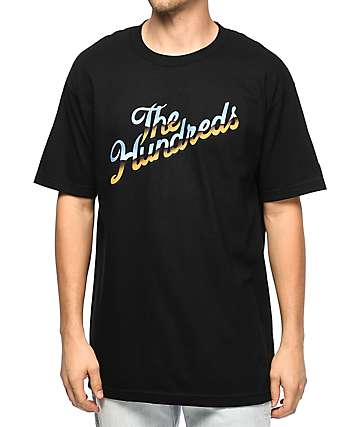 The Hundreds Chrome Slant Black T-Shirt