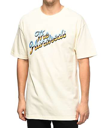 The Hundreds Chrome Slant camiseta en color crema