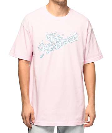 The Hundreds Clouds Slant Pink T-Shirt