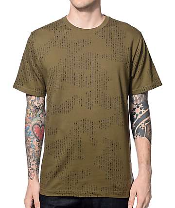The Hundreds Code Olive T-Shirt