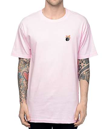 The Hundreds Crest Adam Pink T-Shirt