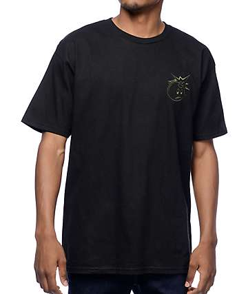 The Hundreds Crest Simple Black T-Shirt