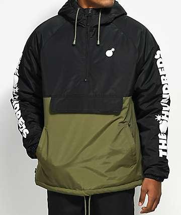 The Hundreds Dell 2 Black & Green Anorak Jacket