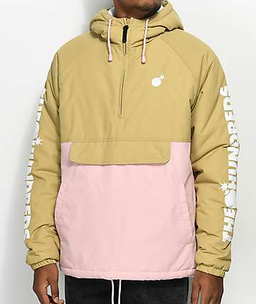 The Hundreds Dell 2 Tan & Pink Anorak Jacket