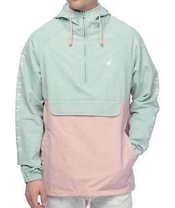The Hundreds Dell chaqueta anorak en color turquesa