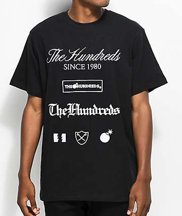 The Hundreds Dunn Black T-Shirt