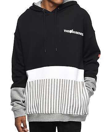 The Hundreds End Black, White & Grey Hoodie