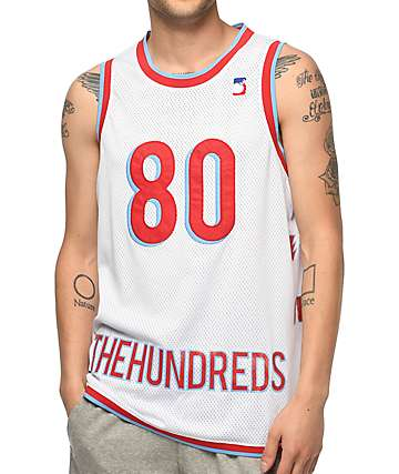 The Hundreds Era White Basketball Jersey
