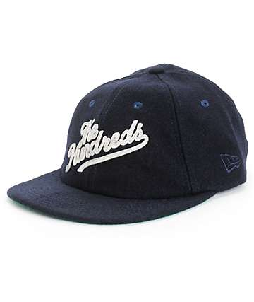 The Hundreds Felt Script Navy New Era Strapback Hat