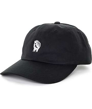 The Hundreds Fist Black Strapback Hat