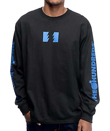 The Hundreds Flag Logo Black Long Sleeve T-Shirt