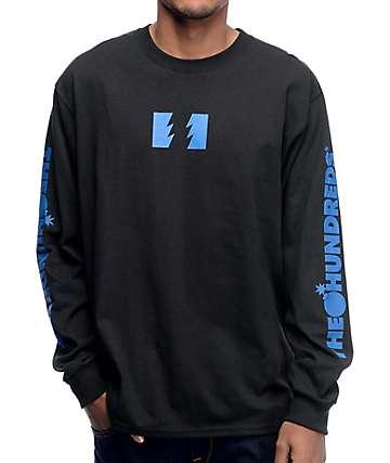 The Hundreds Flag Logo Black Long Sleeve T-Shirt