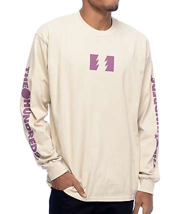The Hundreds Flag Logo Sand Long Sleeve T-Shirt