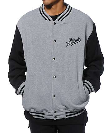 The Hundreds Fleece Varsity Jacket