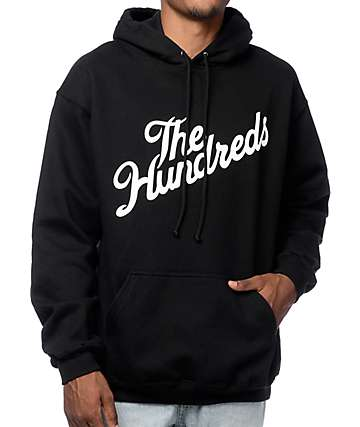 The Hundreds Forever Slant Black Pullover Hoodie