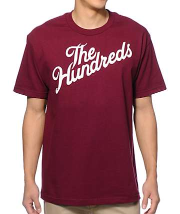 The Hundreds Forever Slant Burgundy T-Shirt
