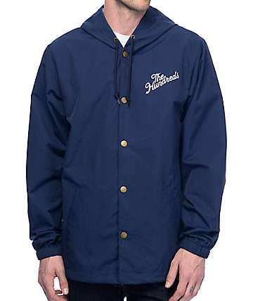 The Hundreds Forever Slant Navy Coaches Jacket
